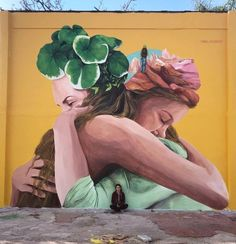 Mabel Vicentef in Buenos Aires, Argentina TOP 100 Urban Art 2019 - Best artworks and street artists of the year - Page 5 of 5 - Street art and graffiti magazine Graffiti Kunst, Graffiti Wall Art, Graffiti Quotes, Art Quotes, Urban Street Art, Urban Art, Urbane Kunst, Street Art Banksy, Illumination Art