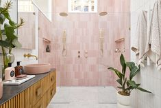 The Block 2020: Master Ensuite Reveals Coastal Color Palettes, Coastal Colors, Coastal Style, The Block Bathroom, Black Marble Tile, Timber Feature Wall, Stone Bathtub, Beaumont Tiles, Timber Panelling