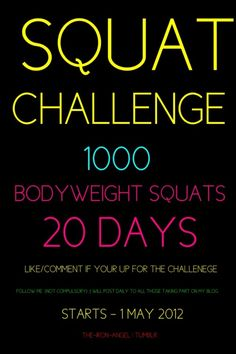 Squat Challenge! I WILL DO THIS!