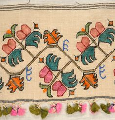 LOT 161 TURKISH and GREEK ISLAND EMBROIDERY FRAGMENTS, 1880 - 1900. - whitakerauction