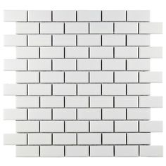 "Found it at Wayfair - Retro 0.88"" x 1.88"" Porcelain Mosaic Tile in Matte White - kitchen backsplash"