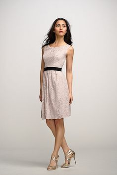 Dress Camellia (lace dress, keyhole back) Watters.com.  Would be lovely for a short wedding dress!