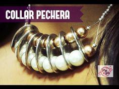 Como Hacer un Collar Pechera de Perlas : Pekas Creaciones - YouTube