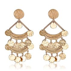 Bohemia Coin Earrings by Kenneth Jay Lane at HAUTEheadquarters.com