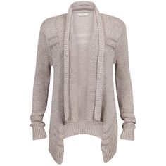 Guess Cardigan Elina (€70) ❤ liked on Polyvore featuring tops, cardigans, jackets, sweaters, outerwear, long tops, long waterfall cardigan, guess? tops, loose fit tops and long loose tops