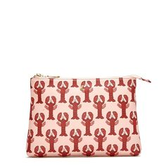 MAKE UP BAG - Lobster You have reached your destination. Printed, zipped, leather make-up bag.
