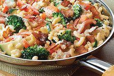Creamy Bacon Vegetable Pasta Skillet