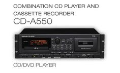 CD-A550: Combination CD Player and Cassette Recorder