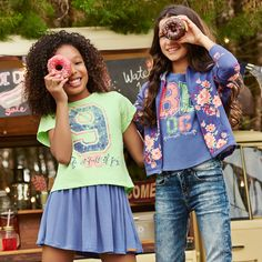 Flowers + Colors + Funny #OFFCORSS #FashionKids Fashion for girls