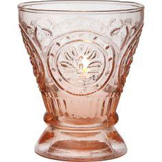Wholesale Vintage Pink Glass Votive Holder (fluted design)