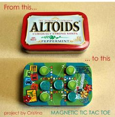 "Tic tac toe diy--I invision mini ""busy bag"" kits for the airplane when we bring the children home!"