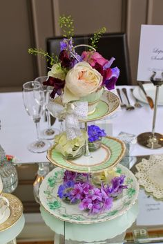 """""""Everything Stops for Tea"""" at Sophie & Nick's Wedding at Dalton St Mary's Church & The Swan at Newby Bridge Afternoon Tea Wedding, Floral Cake, Flower Designs, Swan, Everything, Mary, Weddings, Table Decorations, Wedding"""