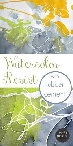 Cement Resist with Watercolors Create unique and trendy abstract art using the watercolor resist technique with rubber cement.Create unique and trendy abstract art using the watercolor resist technique with rubber cement. Watercolor Projects, Watercolour Tutorials, Watercolor Techniques, Watercolour Painting, Art Techniques, Abstract Watercolor Tutorial, Watercolors, Diy Abstract Art, Liquid Watercolor