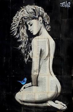 """Saatchi Art Artist LOUI JOVER; Drawing, """"rajah"""" #art"""