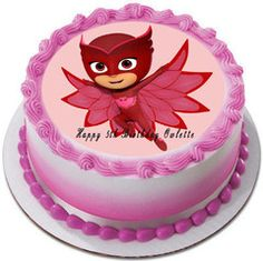 PJ MASKS 4 Owlette Edible Birthday Cake Topper OR Cupcake Topper, Decor