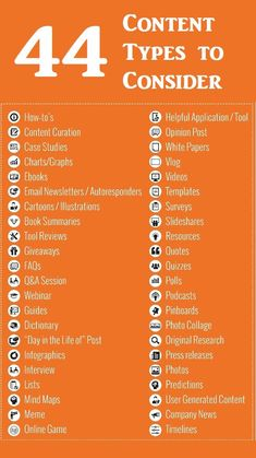 Marketing Strategy Discover 44 Types of Content You Can Use to Promote Your Product Service Business or Self 44 Content Types for Promoting Your Product Service Business - and Even Yourself [Infographic] Marketing Logo, Social Marketing, Plan Marketing, Content Marketing Strategy, Inbound Marketing, Marketing Tools, Affiliate Marketing, Internet Marketing, Online Marketing