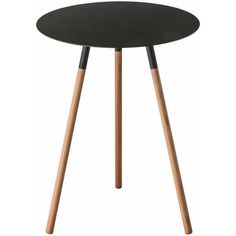 Yamazaki Plain Side Table - Black ($120) ❤ liked on Polyvore featuring home, furniture, tables, accent tables, black lamp table, ebony table, yamazaki, onyx furniture and black chairside table