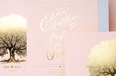Pink & Gold wedding stationery suite by Norman's Printery. #wedding