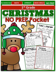 Christmas NO PREP Packet (1st Grade)! FUN, engaging and meaningful activities for Christmas! #TPT