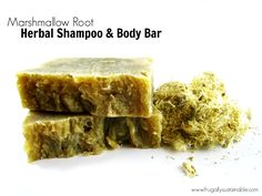 The Benefits of Marshmallow Root for Hair :: Marshmallow Root Herbal Shampoo & Body Bar Soap