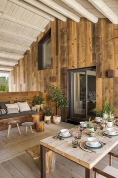 This old barn has been transformed into a wonderful house by designers - PLANETE DECO a homes world Rustic Style, Rustic Decor, Shutter Decor, Wooden Ceilings, Interior Design Living Room, Exterior Design, Decor Styles, New Homes, Instagram