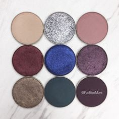 Kylie Cosmetics Holiday palette dupes with Makeup Geek eyeshadows
