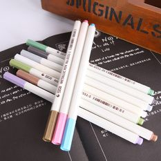 candy color marker pen metallic paint graffiti stationery – white (intl)