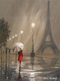 Pretty art painting idea in black, gray, white and a speck of red. PETE RUMNEY F … - Art Painting Types Of Painting, Painting & Drawing, Painting Of Girl, Bel Art, Fine Art, Pretty Art, Art World, Painting Inspiration, Original Paintings