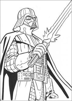 star-wars-dark-vador-clip-art, colouring in pages