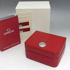 OMEGA WATCH BOX + CARD HOLDER + ID CARDS +MANUAL BOOK + FREE SHIPPING  #Omega