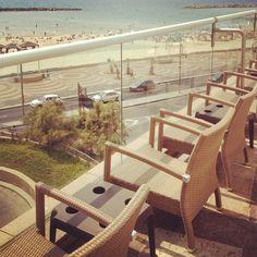 View onto the beach from Dan Tel Aviv Hotel