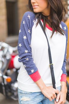 This would be cute for the fourth if it is a cool day (as long as the white isn't too see through).