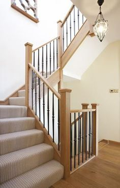 This beautiful Opus steel staircase has a truly unique balustrade which has been constructed combining strong steel spindles. Metal Spindles Staircase, Iron Spindle Staircase, Metal Stairs, Staircase Design, Staircase Ideas, Banisters, Bannister Ideas, Staircase Pictures, Iron Spindles