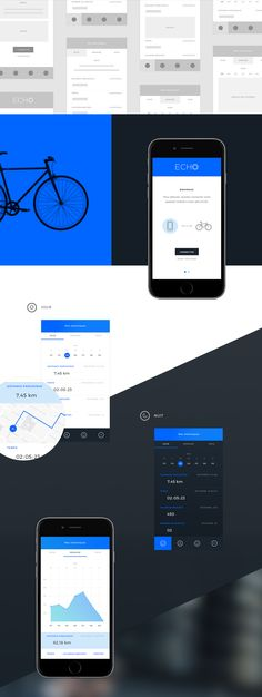This is a concept proposal done for a school project and a fictional brand. The Echo app connects your phone to your Echo smart bike and lets users monitor their progress and be notified of any potential danger in sight, among other things. Since the bran…