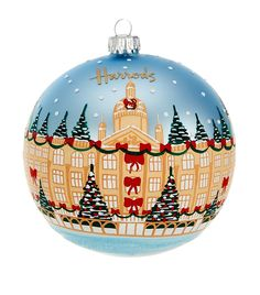 Harrods Hand Painted Storefront Bauble | Harrods