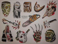 Movie Maniacs American Traditional tattoos