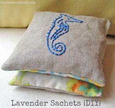 DIY Lavender Sachets and supply information...Seahorse Sachet