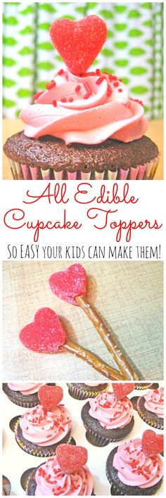 All Edible Cupcake Toppers for Valentine's Day
