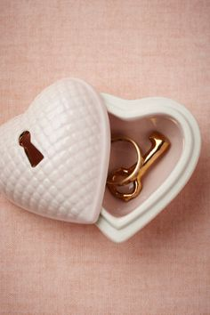 Hearted Ring Box in Gifts For the Bride at BHLDN