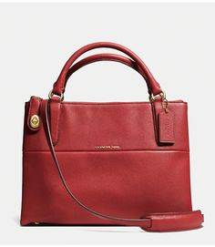 COACH SMALL TURNLOCK BOROUGH BAG IN PEBBLED LEATHER