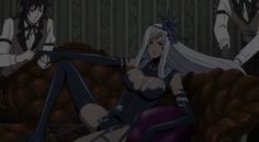 Is this Hannah before or after she met Alois Black Butler Grell, Black Butler Kuroshitsuji, Book Of Circus, Black Buttler, Manga Characters, Anime Guys, Cosplay, Star Stable, Demons