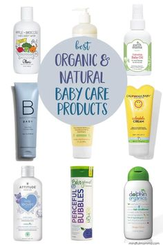 A roundup of the best organic & natural baby products for bath and body care from trusted brands that are affordable and easy to find. Includes baby shampoo, bubble bath, diaper creams, lotions and more. Baby Shampoo, Baby Lotion, Baby Car Mirror, California Baby, Gentle Baby, Baby Care Tips, Baby Skin Care, Baby Oil, Bubble Bath