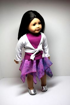 American Girl Doll ClothesHanderkerchief Skirt by sewurbandesigns