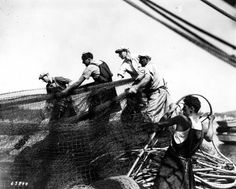 Working with a net aboard a fishing vessel. University of Washington Libraries. Fishing Vessel, University Of Washington, Cultured Pearls, Libraries, Division, Boats, The Past, Around The Worlds, Ships
