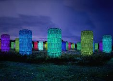 """outdoor light sculptures by Bruce Munro for upcoming """"LIGHT!"""" exhibition at Longwood Gardens in Kennett Square, PA (set to open June 9, 2012)"""