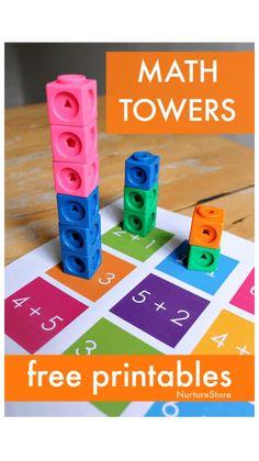 Addition Activities, Subtraction Activities, Kindergarten Math Activities, Homeschool Math, Teaching Math, Educational Activities, Math Worksheets, Montessori Education, Printable Worksheets