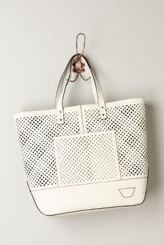 Punched Leather Tote
