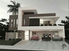 Modern Exterior Design Ideas Will Enhance The Aesthetic Values Of Your House Villa Design, Modern House Plans, Modern House Design, Modern Architecture House, Interior Architecture, Architecture Facts, Modern Exterior, Exterior Design, Facade House