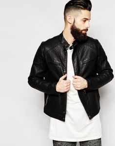 ASOS+Faux+Leather+Biker+Jacket