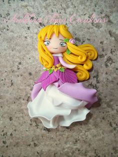 Aurora flower dress polymer clay | Flickr - Photo Sharing! - I like the swirls in the hair